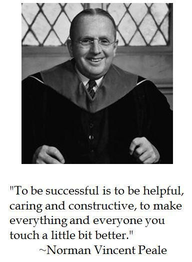 norman vincent peale quotes with images | Norman Vincent Peale on Success | District of Calamity