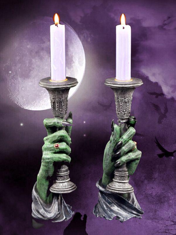 Vampir Kerzenhalter Light Of Darkness 2er Set Kerzenhalter