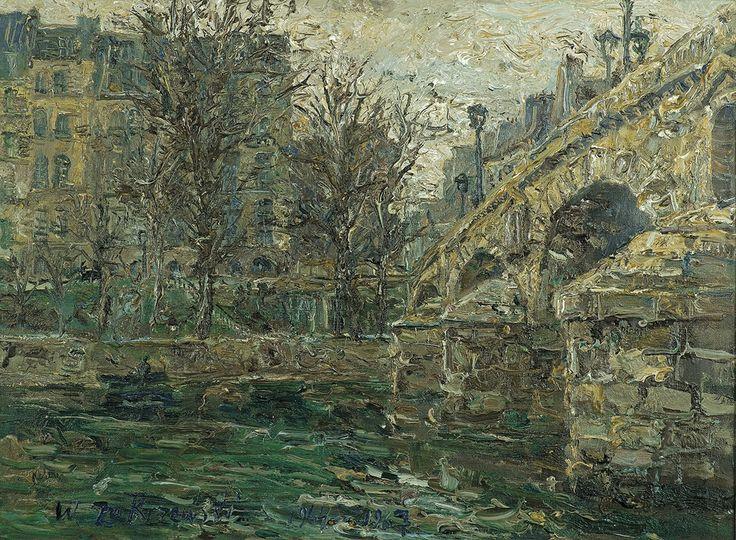 Zakrzewski Włodzimierz -. PARYŻ. PONT MARIE, 1964-1967 olej, płótno, 60 x 81.5