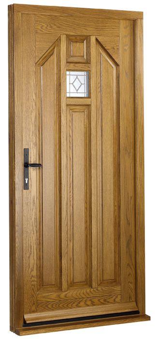 Hand oiled oak front door
