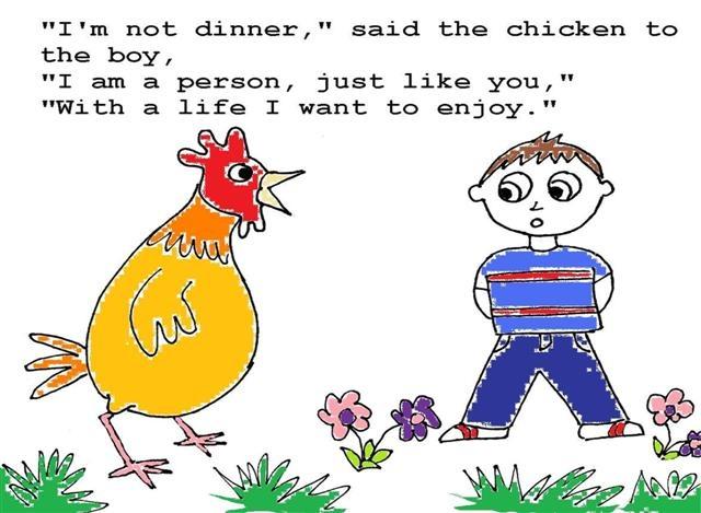 Read the vegan comic, I'm Not Dinner, at http://www.scribd.com/doc/112896107