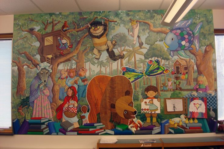 17 best ideas about school murals on pinterest school for Character mural