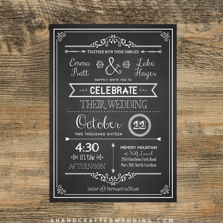 Chalkboard Wedding Invitations 025 - Chalkboard Wedding Invitations