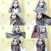 Hijab wrap - step by step