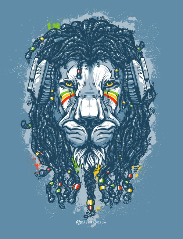 complete work of andrey krasnov rasta lion so amazing street art pinterest digital art. Black Bedroom Furniture Sets. Home Design Ideas
