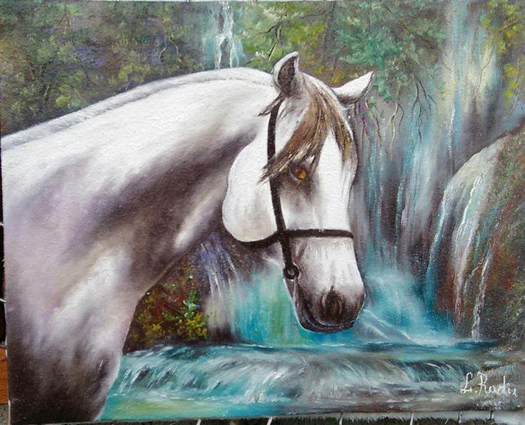 un cal alb. Tablou de Radu Liliana