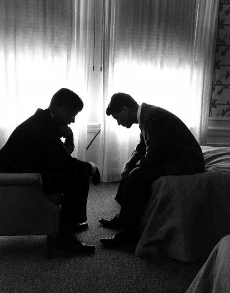 John and Robert Kennedy - I love pictures that tell a story; show true emotions.  That is how I define inspiring photography