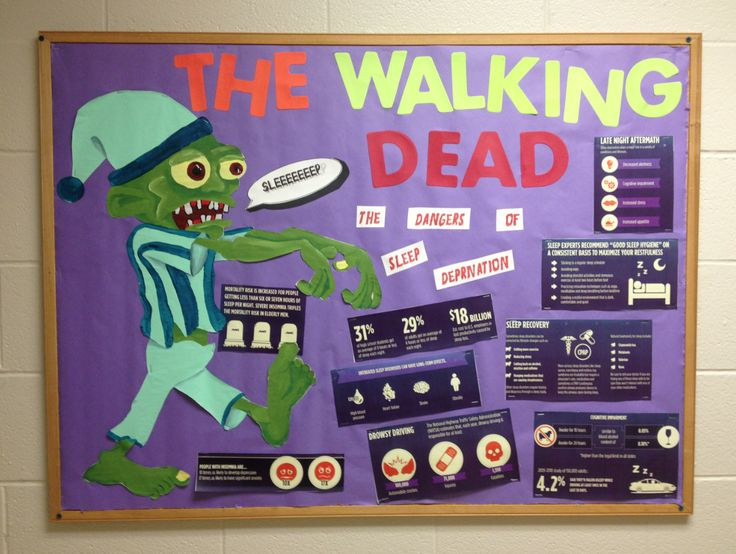 Dangers of sleep deprivation resident advisor / resident assistant / RA bulletin board