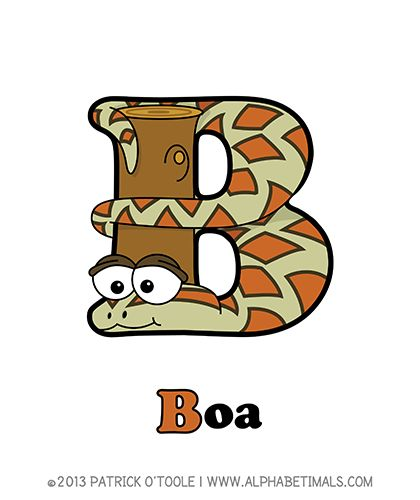 Boa - Alphabetimals make learning the ABC's easier and more fun! http://www.alphabetimals.com