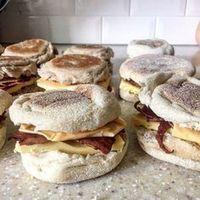 Freezer Breakfast Sandwiches weight watcher 4 smart points meal recipe easy