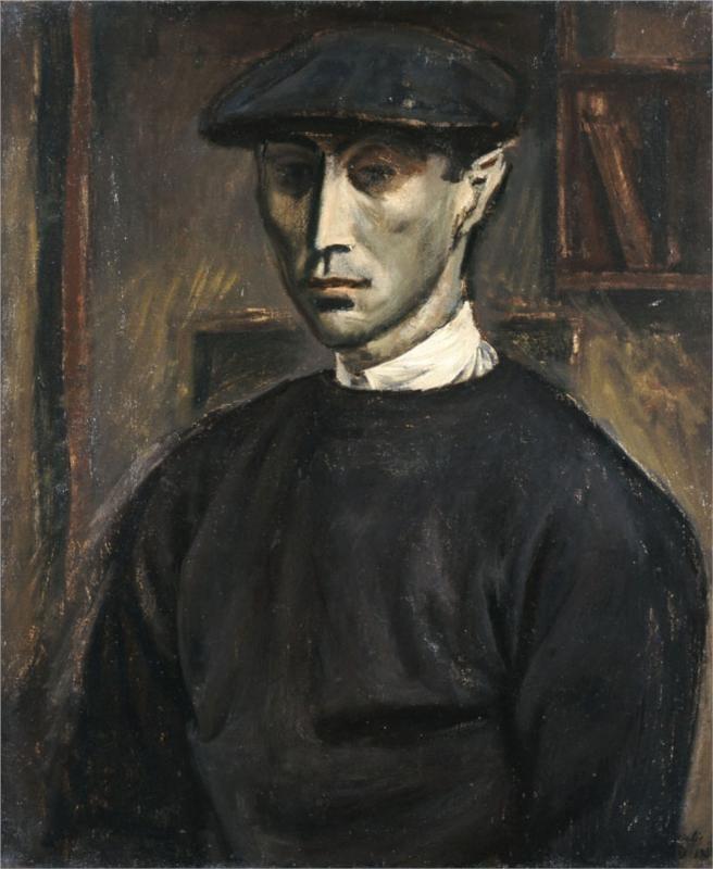Yiannis Moralis - Self Portrait, 1938
