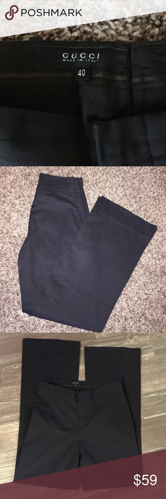 Gucci pants Ladies black Gucci pants made in Italy. Italian size 40. Inseam is 29 inches Gucci Pants Trousers