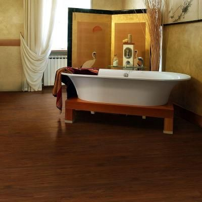 TrafficMASTER Allure Ultra 7.5 In. X 47.6 In. Red Mahogany Luxury Vinyl  Plank Flooring (19.8 Sq. Ft. / Case)