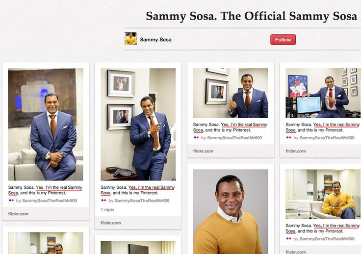 15 Things We Learned from Sammy Sosa's Perfect Pinterest Page.