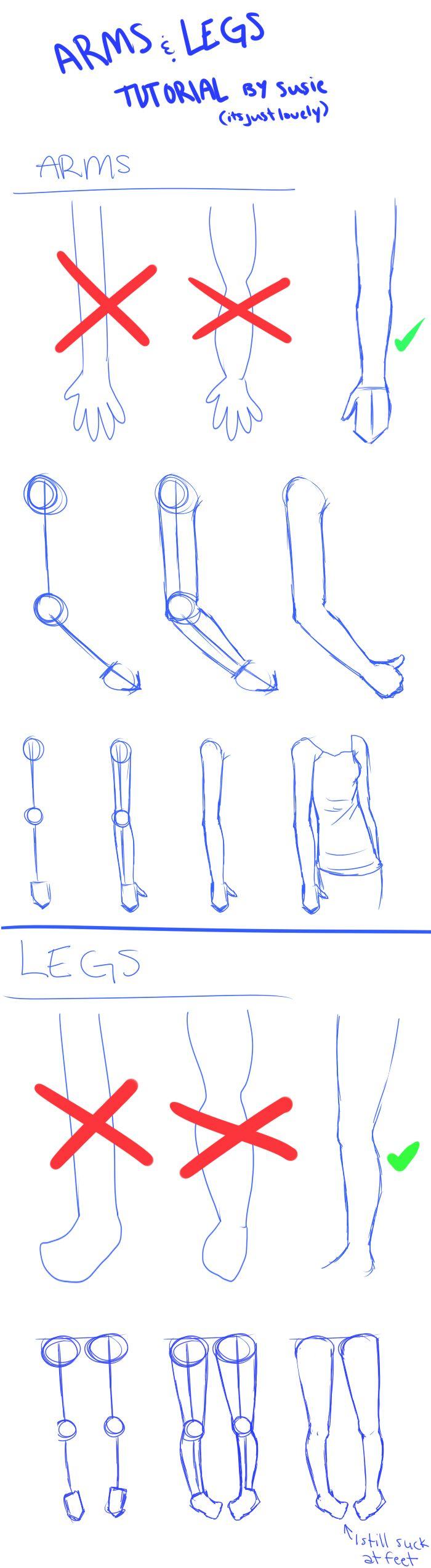 ARMS n' LEGS Tutorial by ItsJustLovely.deviantart.com on @DeviantArt