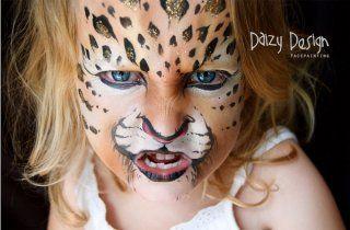 Modèle de maquillage d'enfant : le léopard