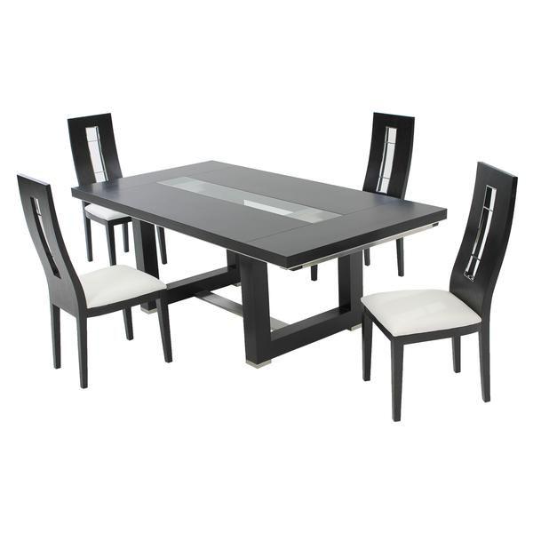 El Dorado Furniture Novo Dark Oak 5 Piece Formal Dining Set