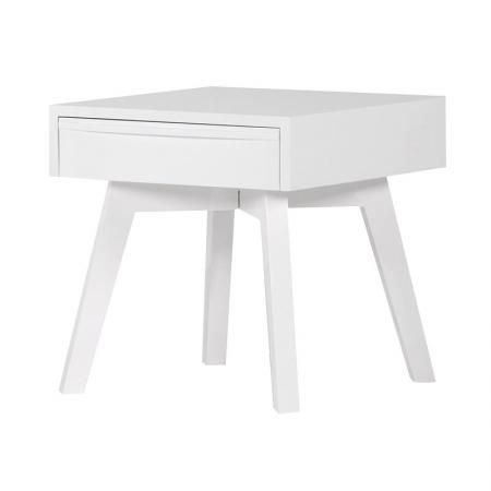 White High Gloss Small Bedside / Side Table