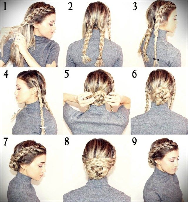 Lots of quick and easy hairstyles by following our tutorials step by step. From the classic bun to the harvest with braids, different hairstyles to show off on any occasion.