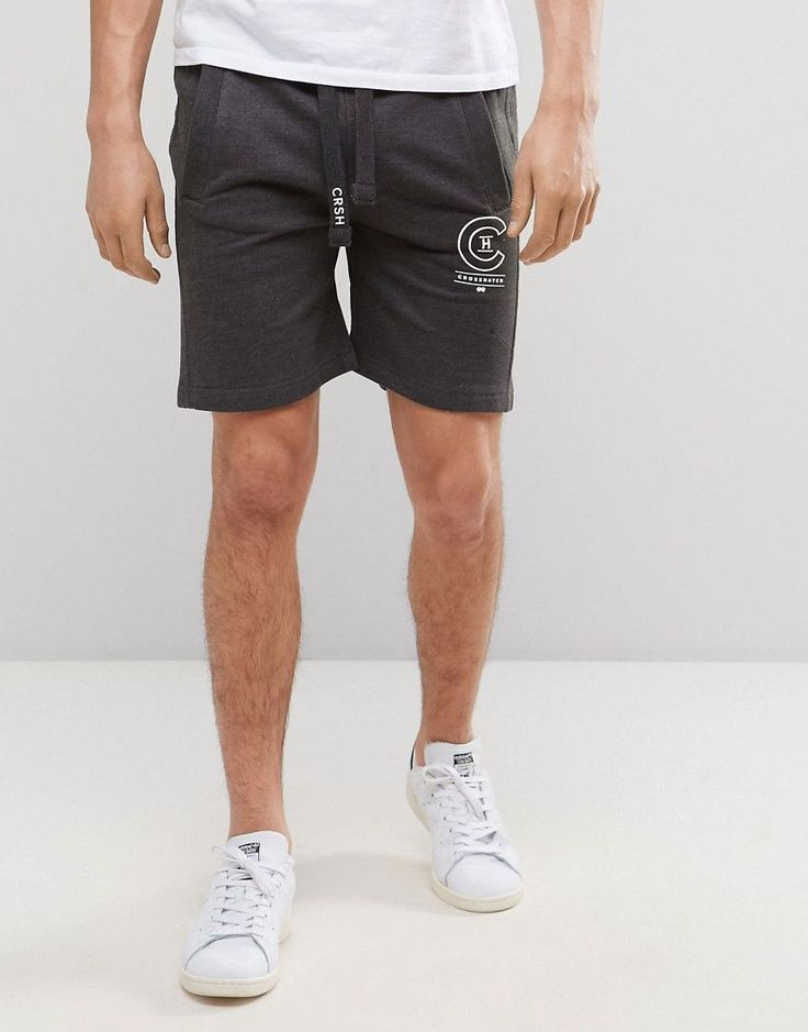 Get this Crosshatch's sporty shorts now! Click for more details. Worldwide shipping. Crosshatch Logo Sweat Shorts - Grey: Shorts by Crosshatch, Soft-touch sweat, Drawstring waistband, Functional pockets, Logo detail, Regular fit - true to size, Machine wash, 70% Polyester, 30% Cotton, Our model wears a W 32 and is 188cm/6'2 tall. (pantalón corto deportivo, sports, sport, gym, pantalón corto de deporte, workout, deporte, pantalones cortos de denim, pantalón corto de compresión, kurze sport...