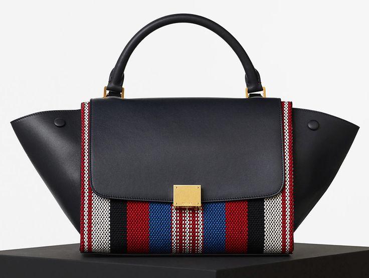 Celine-Textile-and-Leather-Trapeze-Bag | 2016-2 | Pinterest ...