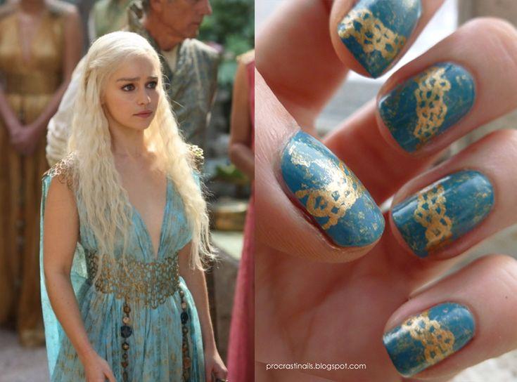 Nail Art – Emilia Clarke Game Of Thrones