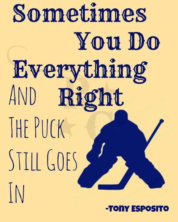Goalie wall art hockey wall art hockey quote by Raising3Cains