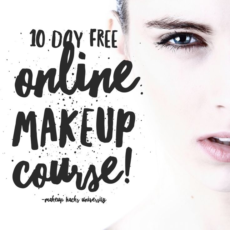 Forget complicated YouTube tutorials! Take my 10 day FREE online makeup course called Makeup Hacks University! My first classes are starting this Sunday!