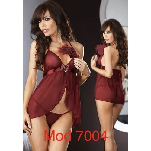 babydoll completino sexy intimo completo rosso nero baby doll + tanga