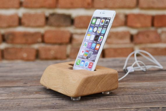 iPhone 6 Plus stand iPhone 7 Docking Station Wooden by WoodRestart