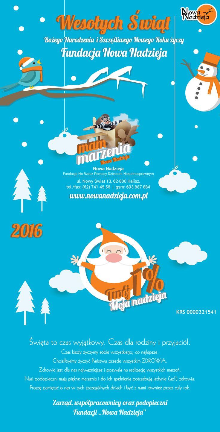 Projekt życzeń świątecznych dla Fundacji Nowa Nadzieja | www.pinkelephant.pl