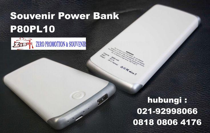 Power Bank - P80PL10, souvenir Powerbank Slim 8.000mAh, Powerbank Promosi 8ooomAh, Powerbank  Plastik Slim 8.000MAh untuk Souvenir Kantor - Barang Promosi
