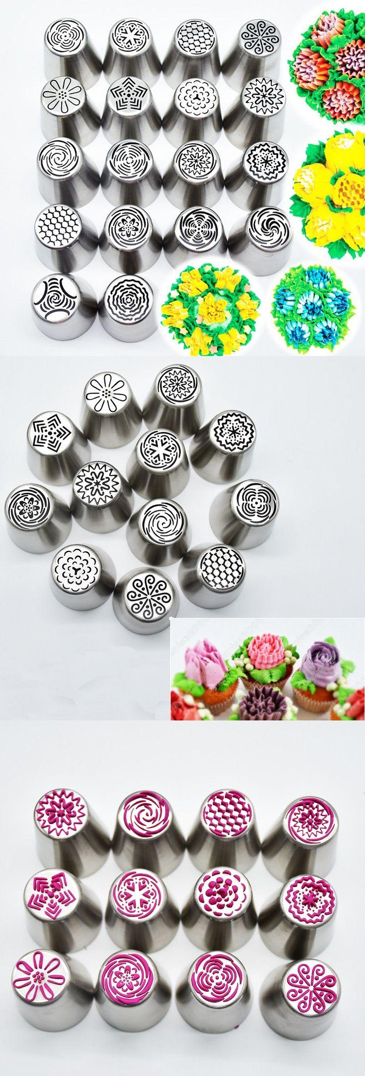 US$16.69 18Pcs DIY Flower Pastry Cake Icing Piping Nozzles Decorating Tips Baking Tools Cupcake Bakeware
