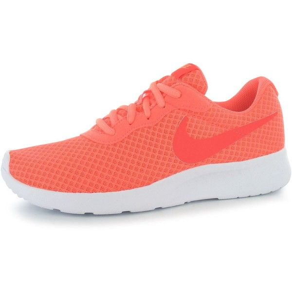 Nike Tanjun Ladies Trainers ($69) ❤ liked on Polyvore featuring shoes, sneakers, nike sneakers, nike trainers, nike, nike shoes and nike footwear