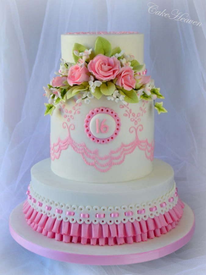 Sweet 16 Birthday Cake - Cake by Marlene - CakeHeaven