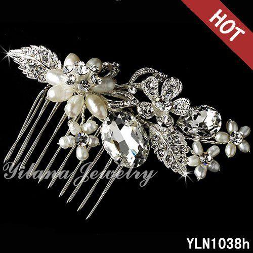 Кристалл австрийский горный хрусталь волосы расческой свадебные винтаж аксессуары для волос женщины заставки головные уборы люкс расческой волос цепи