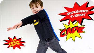 How to Sew a Superhero T-Shirt Cape