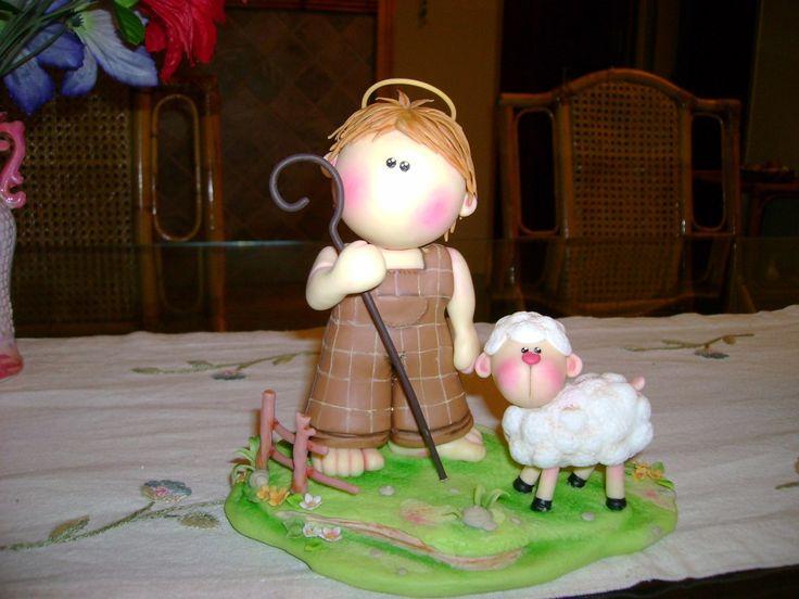 adorno torta comunion pastorcito
