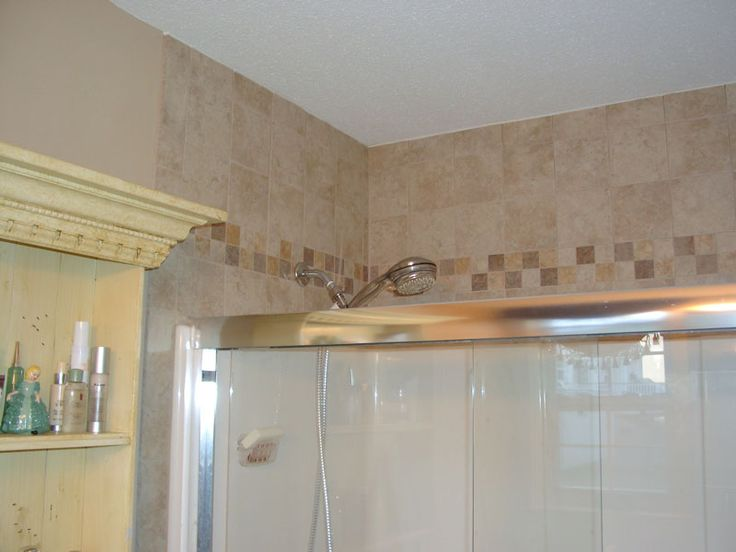 Tile Above Tub Shower Enclosure House Ideas Pinterest