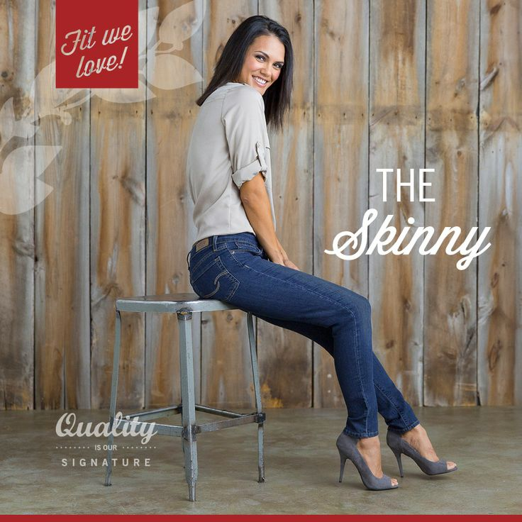 Signature by Levi Strauss & Co.™ The Skinny sits just below the waist, is slim through the hip and thigh, and has a skinny leg opening.