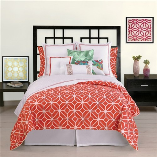 Trina Turk Trellis Coral Comforter Set