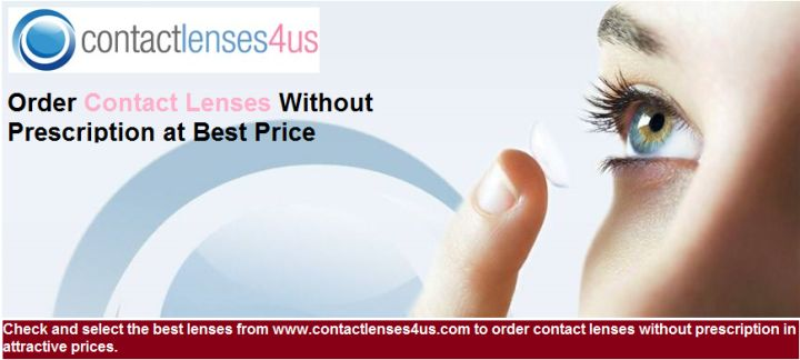 Check and select the best lenses from http://www.contactlenses4us.com to order contact lenses without prescription in attractive prices.