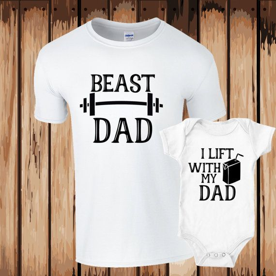 Daddy and Son Set Beast Dad I lift Juice with my Dad- Workout Partners-