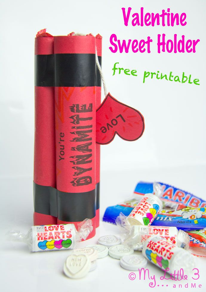 valentine gifts free printable sweet holder from my - Boy Valentine Gifts