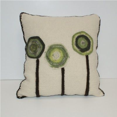 Needle felting crochet pieces with Clover Needle Felting Tool