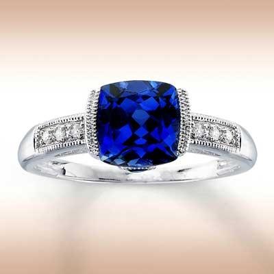 <3: Sapphire Rings, Pretty Blue, Blue Glasses, Favorite Rings, Cobalt Blue, Blue Sapphiresjewelryarmoir, Jewels, 10K White, White Gold Diamonds