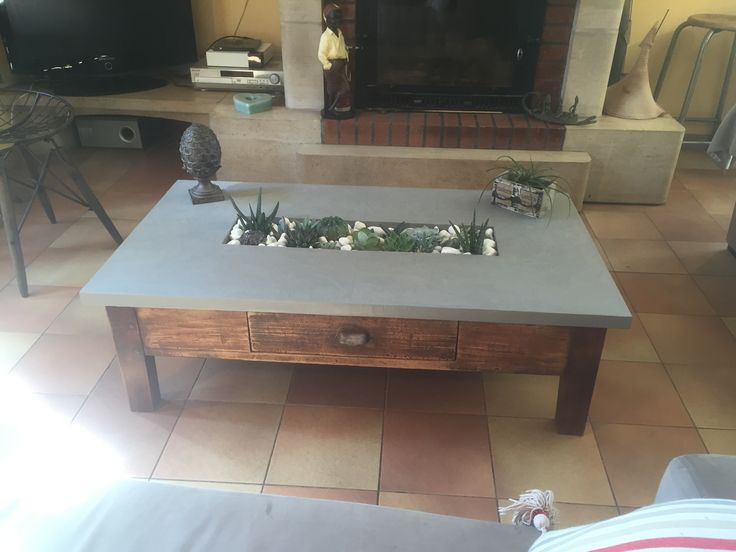 25 best ideas about table basse b ton cir on pinterest for Table basse aspect beton