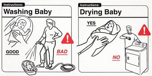 Il bimbo non va in forno: le vignette con le istruzioni per i neo-genitori