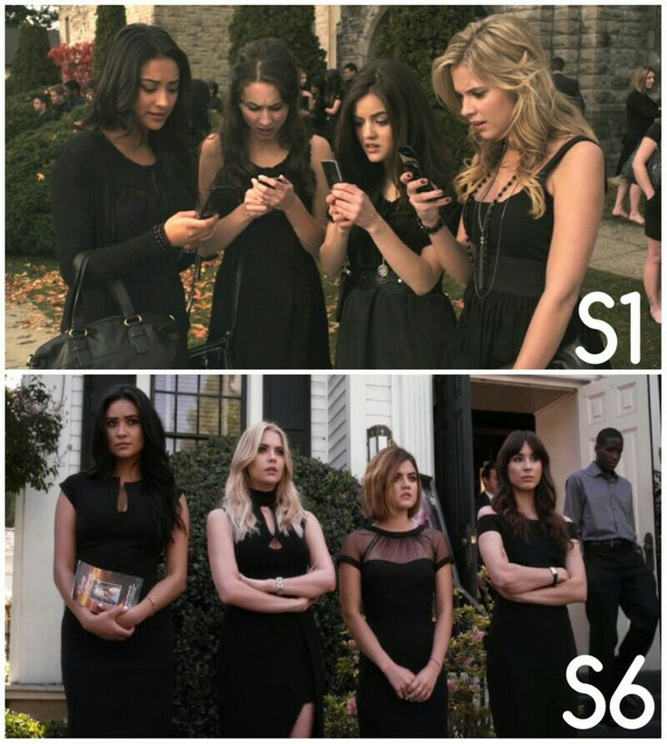Season 1 Episode 1/Season 6 Episode 11: Spencer, Aria, Hanna, Emily