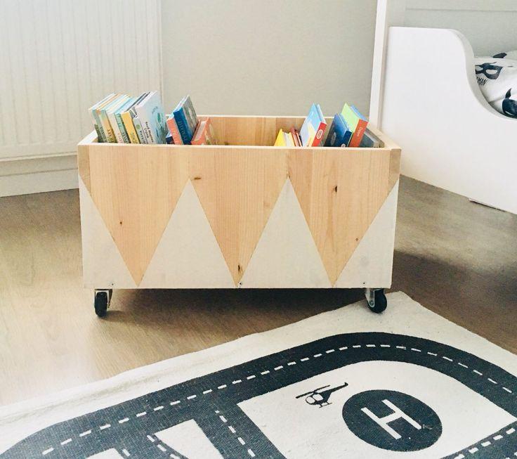 Toys box, wooden box, box for books, ящик для книг, Scandinavian interior